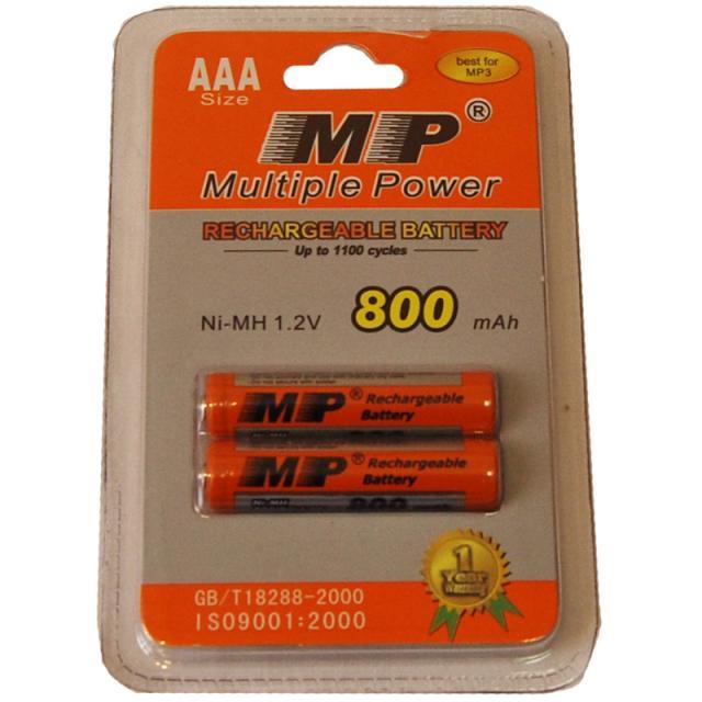 Аккумулятор MP 800 mAh AAA